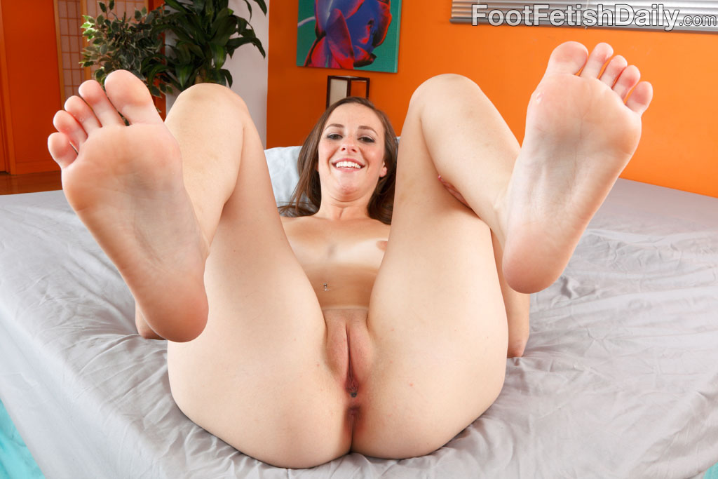 woman with a foot fetish