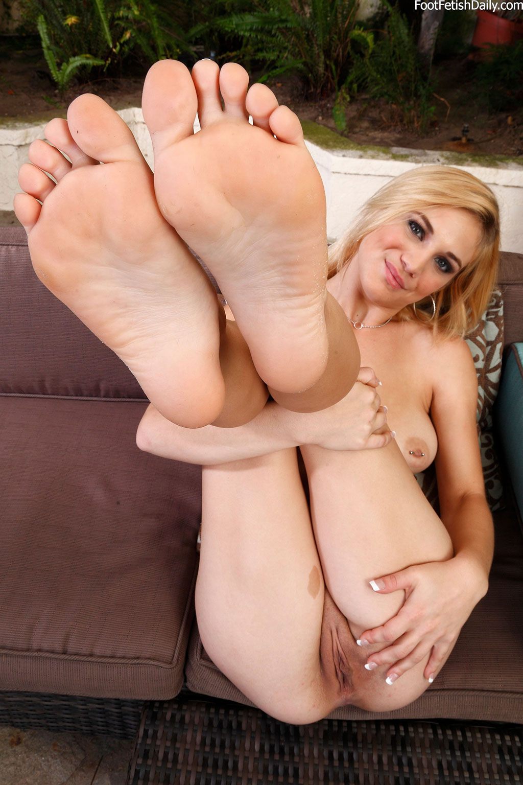 Girl with foot fetish