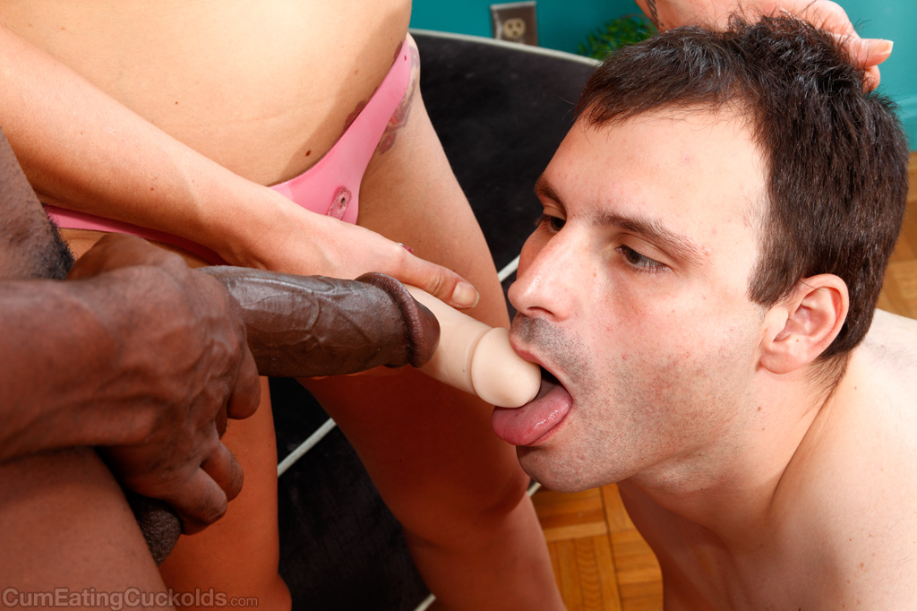 Black cumm eating bisexual