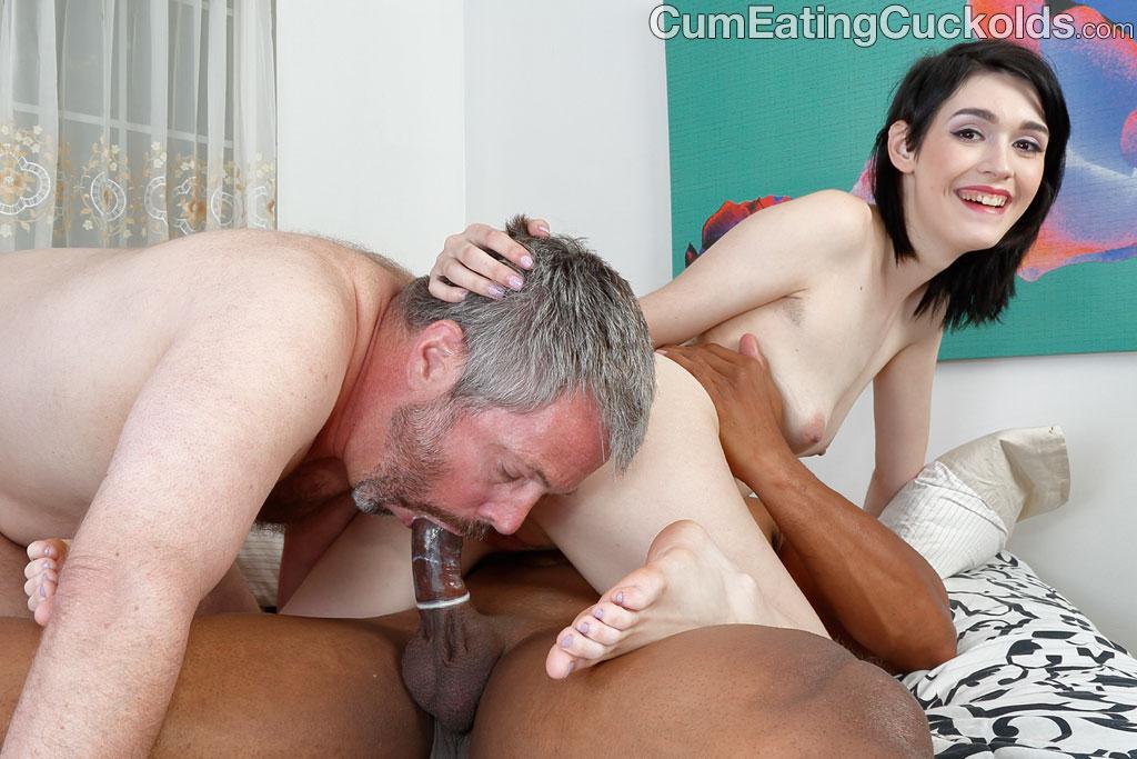 husband loves to eat cum